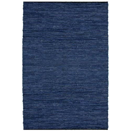 Matador Dark Blue Rectangular: 1 Ft 9 In x 2 Ft 10 In Rug