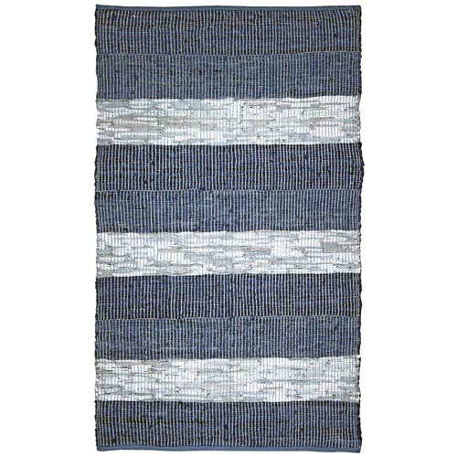 Matador Blue Rectangular: 1 Ft 9 In x 2 Ft 10 In Rug