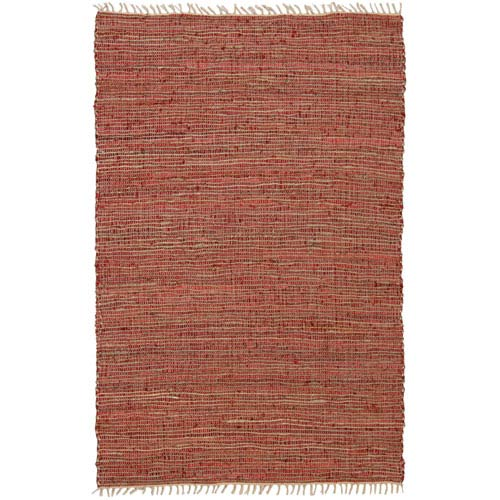St. Croix Trading Matador Copper Leather and Hemp Rectangular: 5 Ft. x 10 Ft. Rug