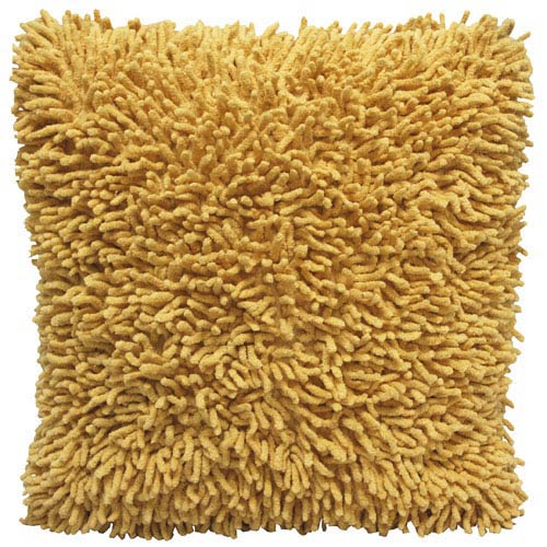 Shagadelic Yellow 18-Inch Chenille Twist Double Sided Pillow