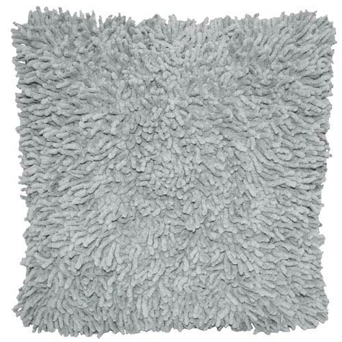 Shagadelic Gray 18-Inch Chenille Twist Double Sided Pillow