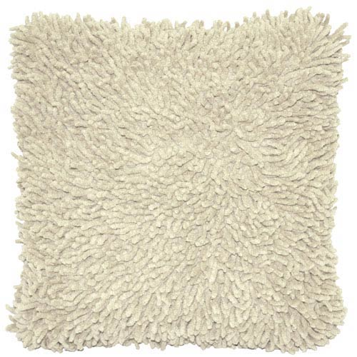 Shagadelic White 18-Inch Chenille Twist Double Sided Pillow