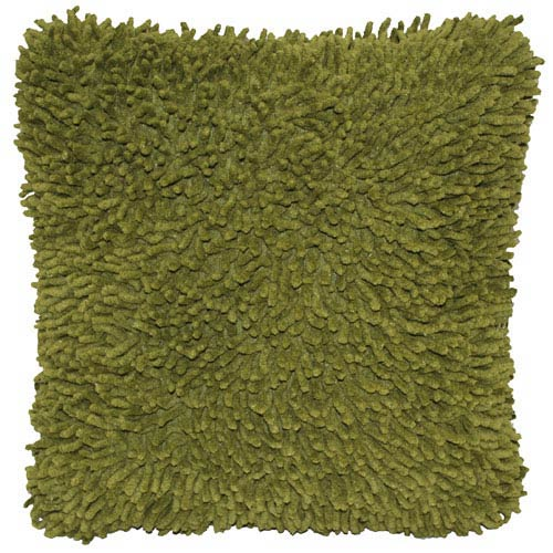 Shagadelic Chenille Twist Moss 27-Inch Double Sided Pillow