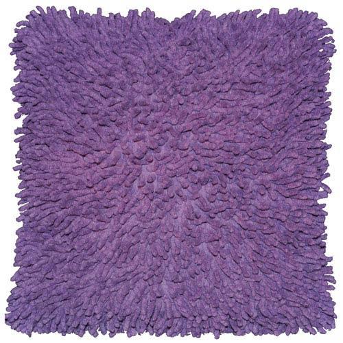 Shagadelic Purple 18-Inch Chenille Twist Double Sided Pillow