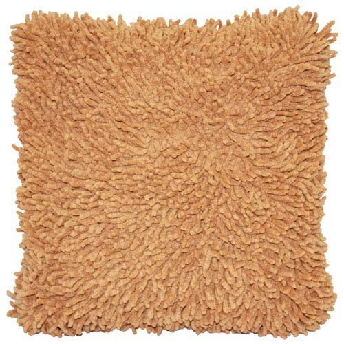 Shagadelic Tan 18-Inch Chenille Twist Double Sided Pillow