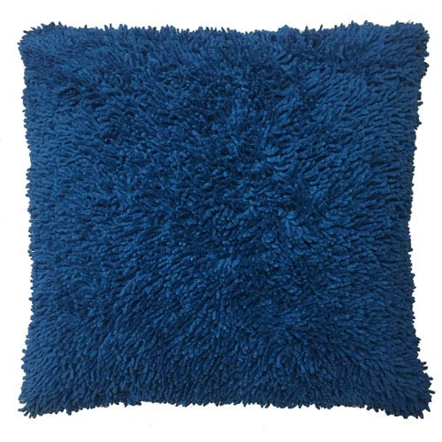 Shagadelic Chenille Twist Neon Blue 27-Inch Double Sided Pillow