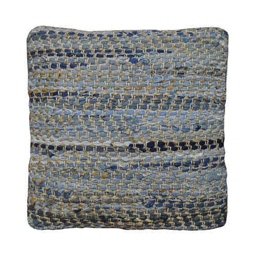 Earth First Denim and Hemp 18 x 18 Pillow