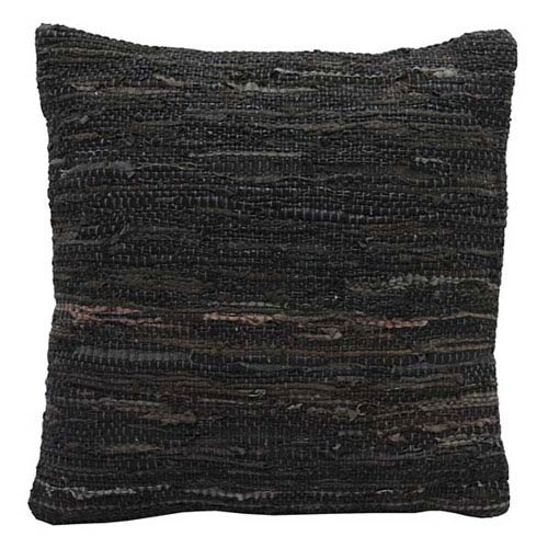 Matador Brown 18-Inch Leather Chindi Pillow