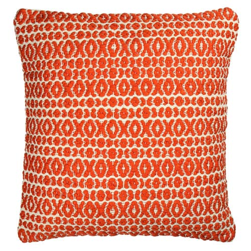 St. Croix Trading Structure Hugs and Kisses Orange 27-Inch Pillow