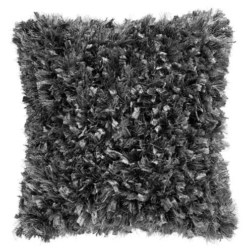 Gray Shimmer Shag 18-Inch Pillow