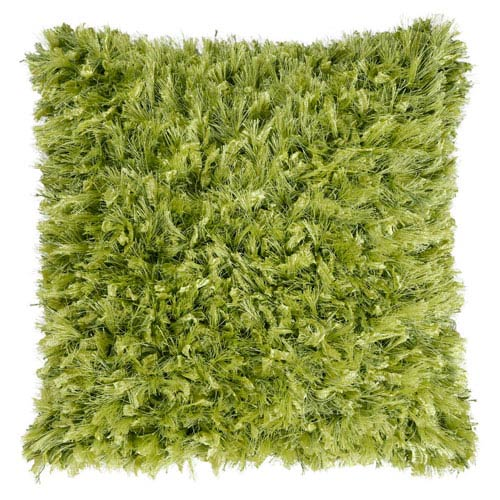 St. Croix Trading Green Shimmer Shag 24-Inch Pillow