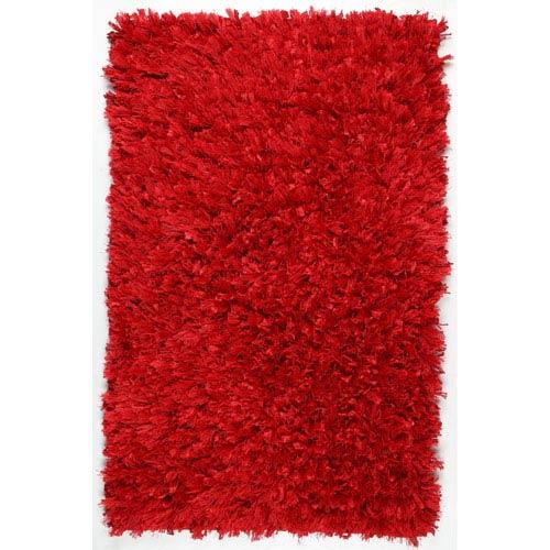Red Shimmer Shag 21-Inch x 34-Inch Rug