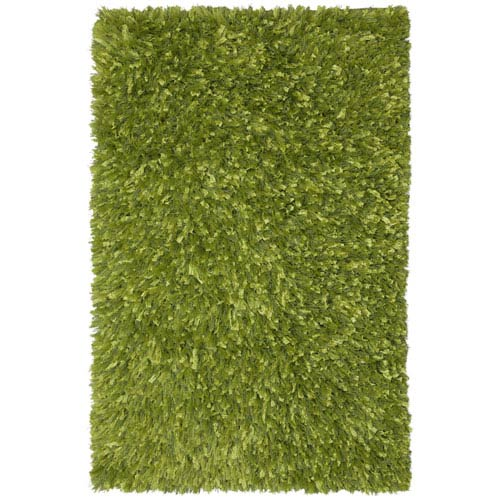 St. Croix Trading Green Blue Shimmer Shag 30-Inch x 50-Inch Rug