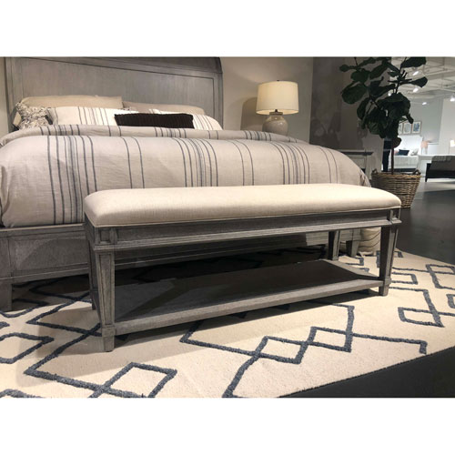 Stanley Willow Pewter Bed End Bench 821 E3 72 Bellacor