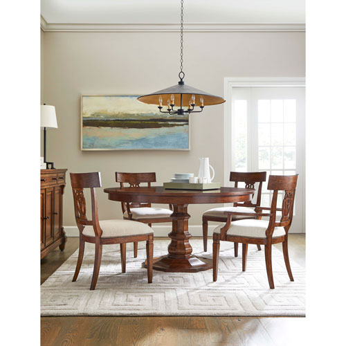 Stanley Old Town Barrister 60 Inch Round Dining Table 935 11 32 Bellacor