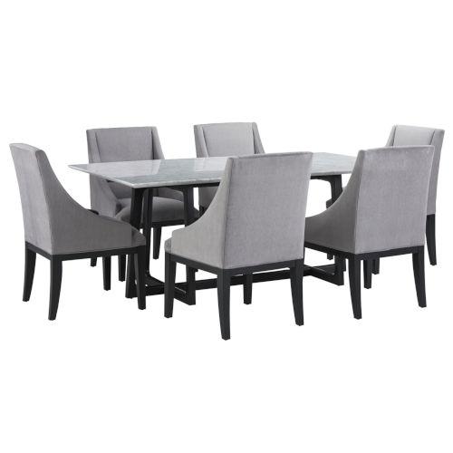 White Rectangular Dining Set