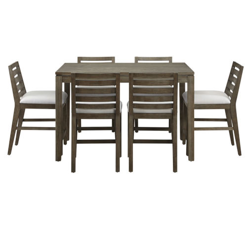 Brown Seven Piece Cafe Dining Set