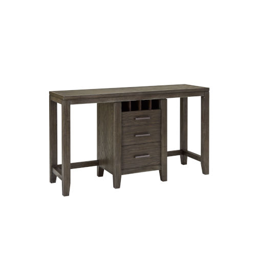 Bravo Brown Console Table with Two Cafe Stools