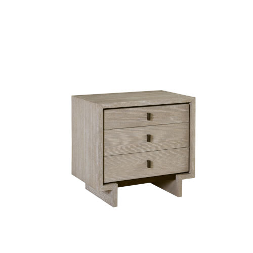 Podium White Nightstand with USB Port