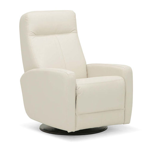 Vernon Bisque Leather PVC Match Swivel Glider Chair