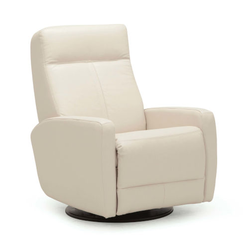 Vernon II Bisque Leather PVC Match Swivel Glider Chair