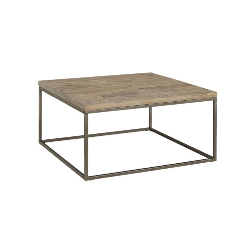 Julien Square Coffee Table with Acacia Wood Top