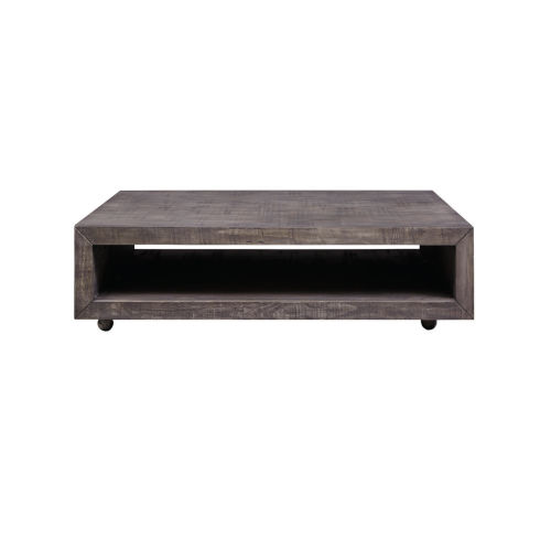 Muse Grey Square Cocktail Table with casters