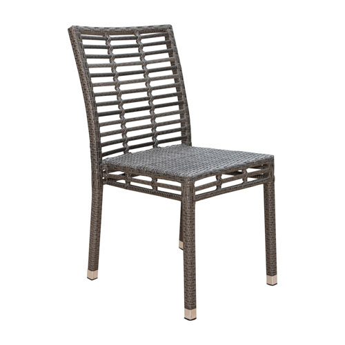 Intech Grey Outdoor Stackable Side Chair