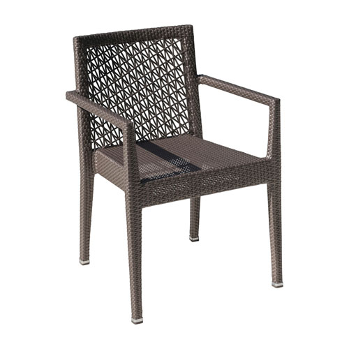 Bronze Grey Outdoor Stackable Armchair