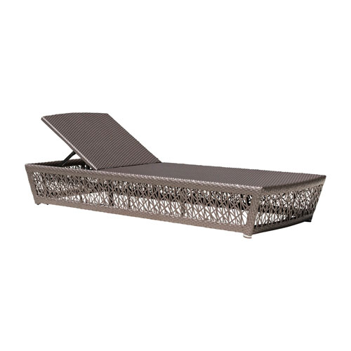 Bronze Grey Outdoor Chaise Lounger