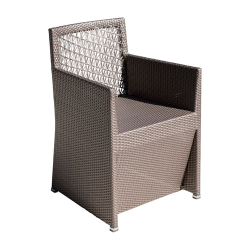 Bronze Grey Outdoor Woven Dining Chair