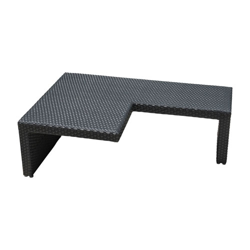 Onyx Black Outdoor Puzzled Coffee Table