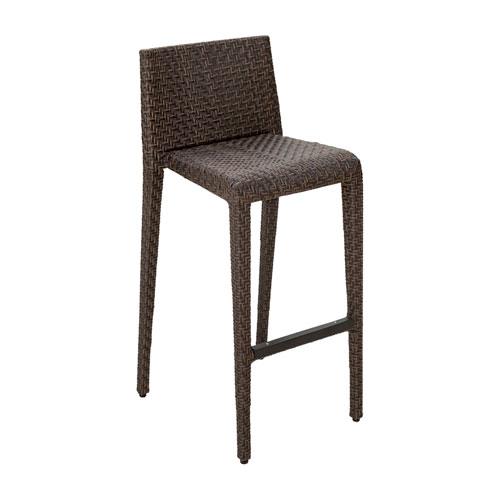 Oasis Java Brown Stackable Outdoor Barstool