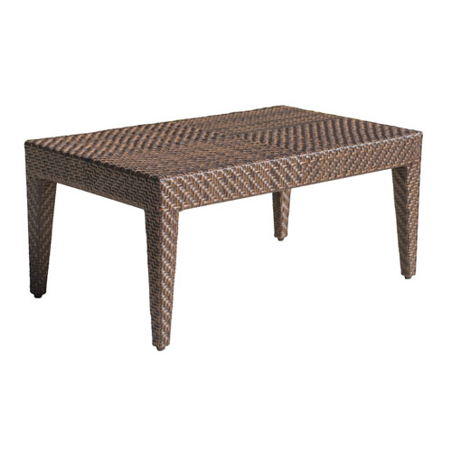 Oasis Java Brown Outdoor Coffee Tables With Glass