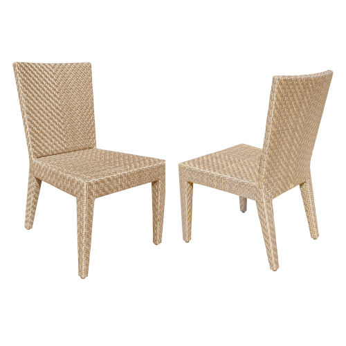 Austin Natural Outdoor Dining Side Chair, Set of Two