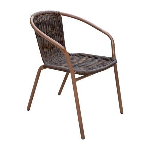 Espresso Cafe Stackable Armchair, Set of 4