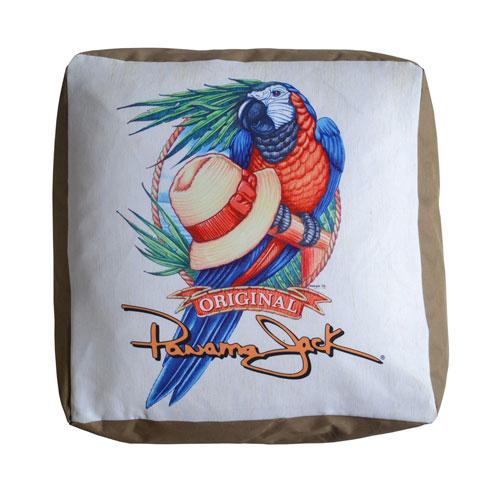 Multicolor Parrot Pouf Outdoor Ottoman