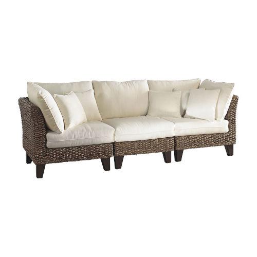 Sanibel Spectrum Graphite Three-Piece Sofa Set with Cushion