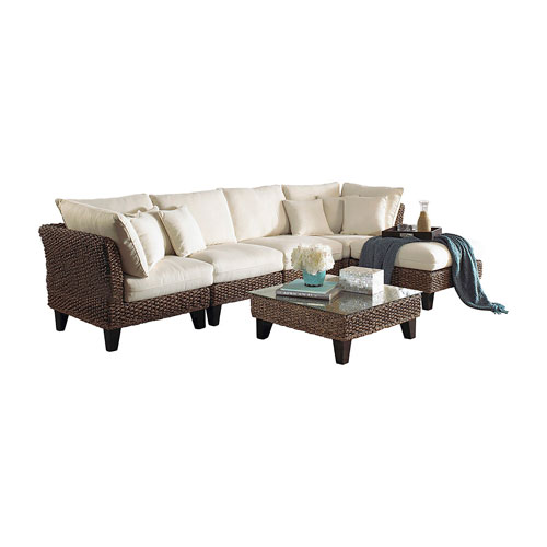 Sanibel Patriot Ivy Six-Piece Sectional Set with Cushion