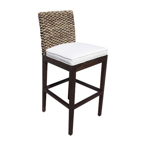 Sanibel Canvas Taupe Indoor Barstool with Cushion