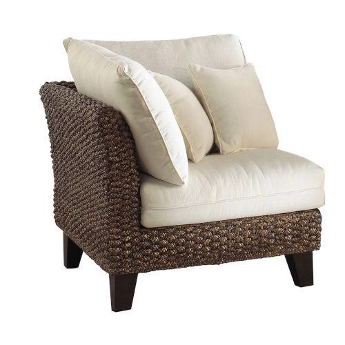 Sanibel York Peacock Corner Chair with Cushion