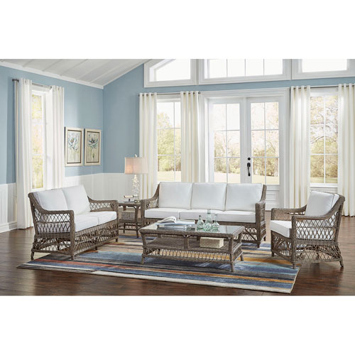 Seaside Patriot Birch Five-Piece Living Set with Cushion