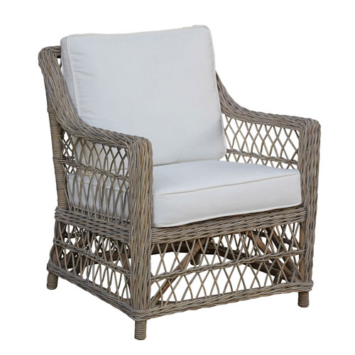 Seaside Rave Brick Lounge Chair with Cushion
