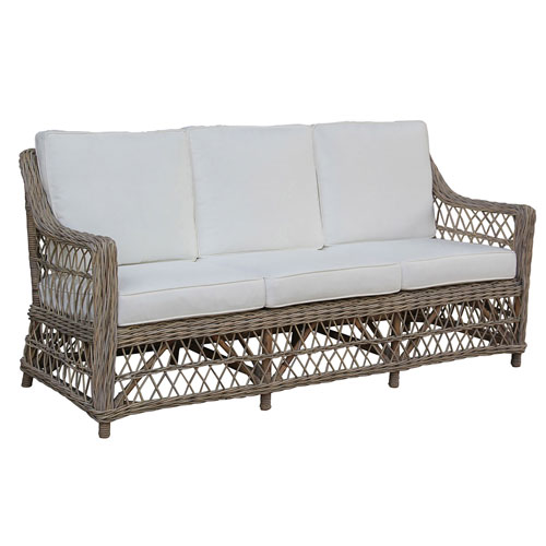 Seaside Patriot Birch Sofa with Cushion