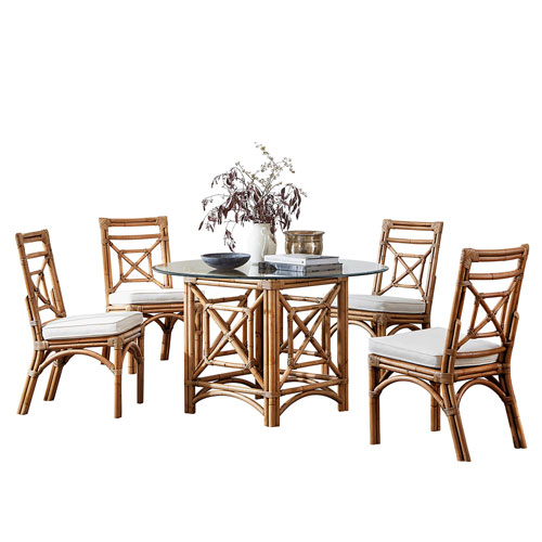 Plantation Bay York Dove Dining Set with Cushion