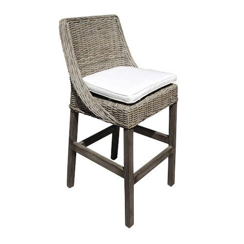 Exuma York Dove Barstool with Cushion