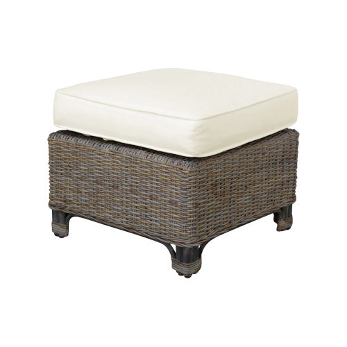 Exuma York Bluebell Ottoman with Cushion