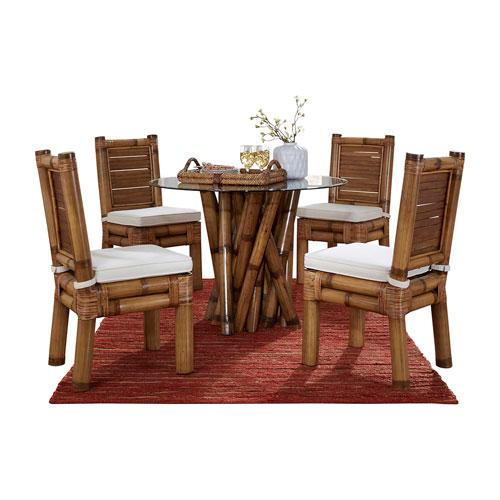 Kauai Bamboo Island Hoppin Six-Piece Dining Set with Cushion