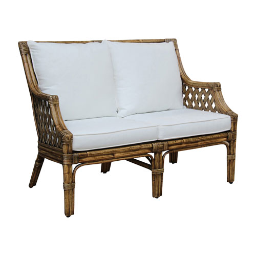 Old Havana Patriot Cherry Loveseat with Cushion