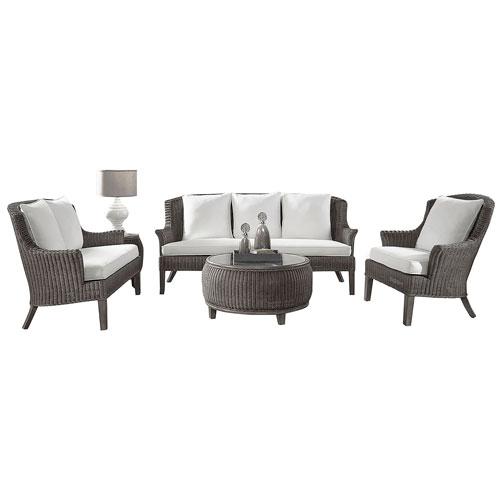 Playa Largo York Dove Five-Piece Living Set with Cushion